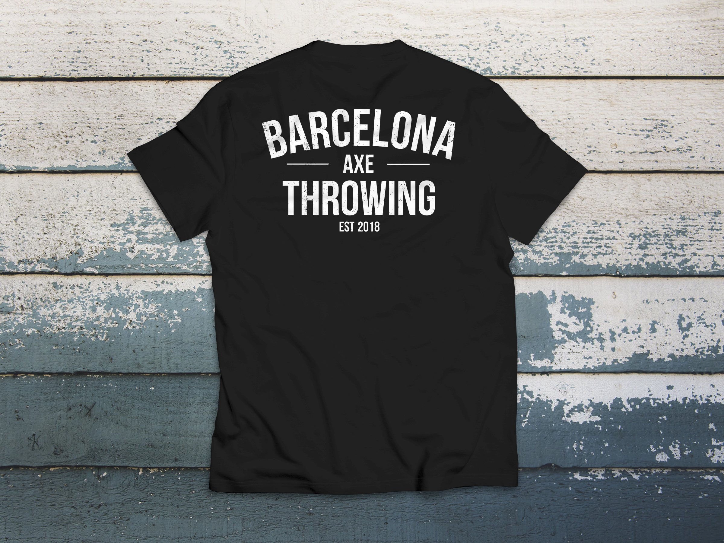 camiseta j. black barcelona axe throwing