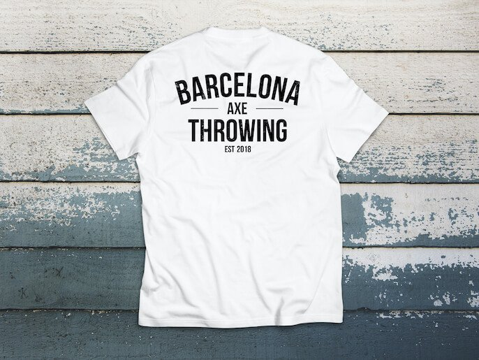 camiseta barcelona axe throwing J. blanca