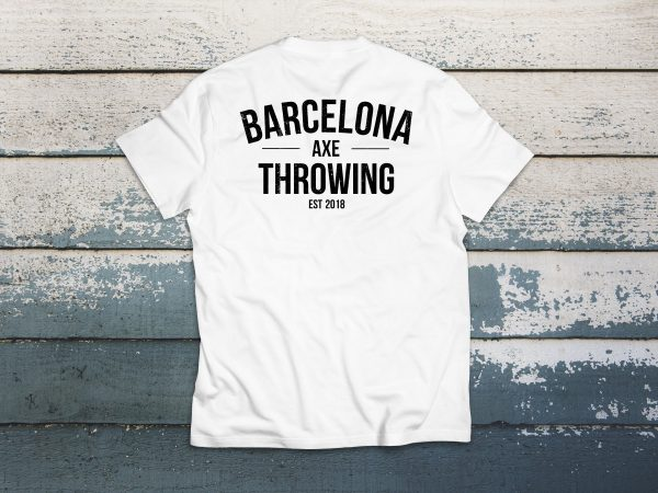 camiseta barcelona axe throwing J. White detras